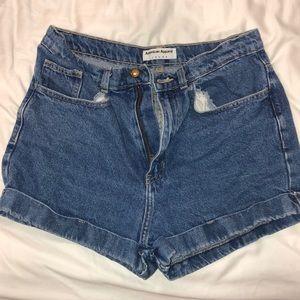 American apparel denim shorts